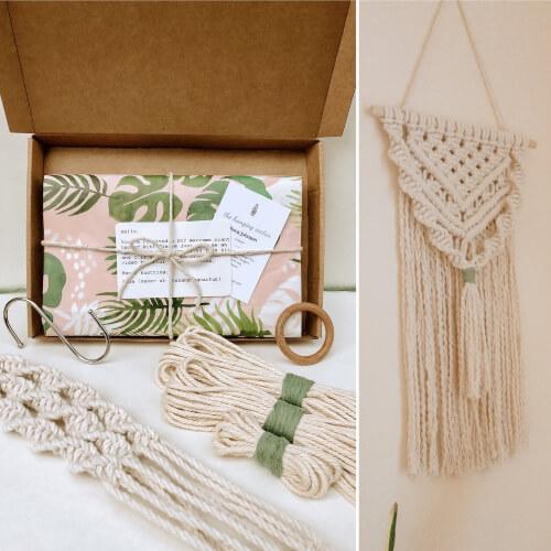 Boho Wall Hanging DIY Macrame Kit from thehangingcactus