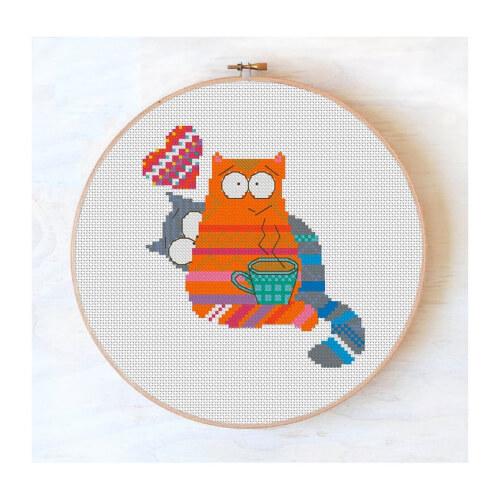 Cat lovers Cross Stitch Pattern by ZephyrMood