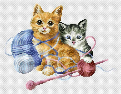 Cats Kittens Cross Stitch Pattern by MaddisonPatterns