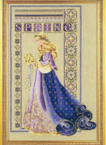 Celtic Spring Lavender & Lace Cross Stitch Chart by Marilyn Leavitt-Imblum