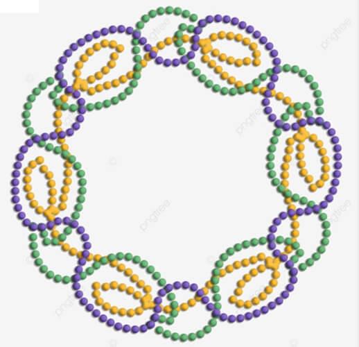 Circle Mardi Gras Beads Clip Art