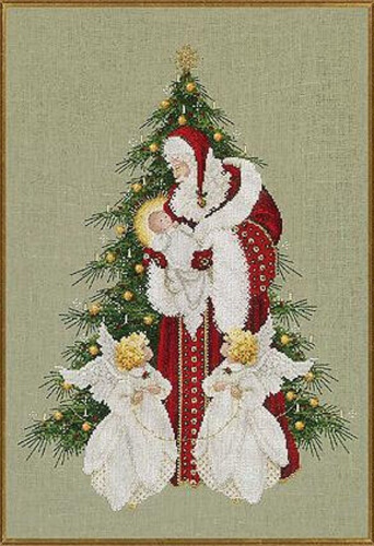 Complete Xstitch Materials - Song of Christmas by Lavender and Lace