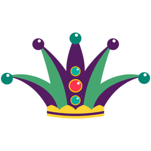 Costume Jester Hat Free Mardi Gras Clip Art