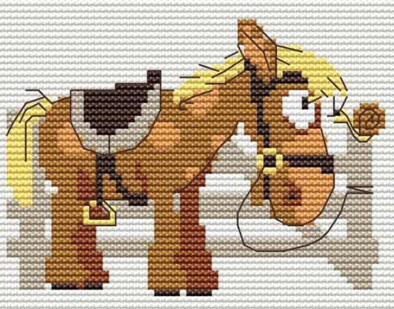 Cross Stitch Horse Pattern by FloReenStudio