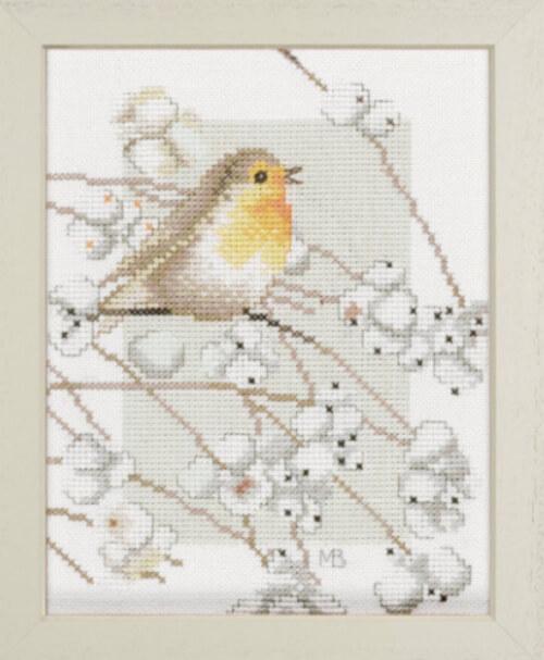 Cross Stitch Kit Robin by Lanarte from pepperdogcrossstitch
