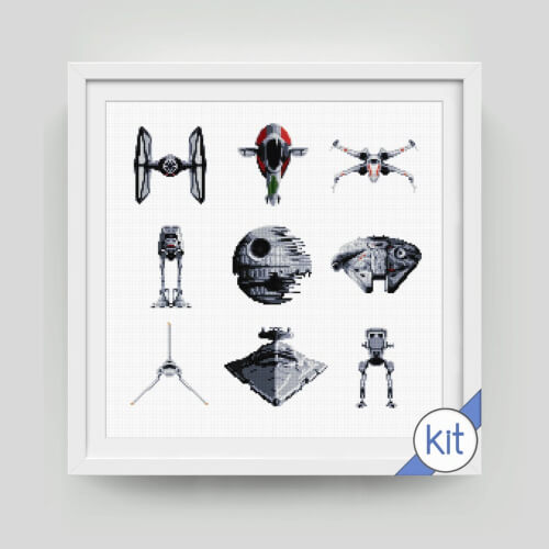 Cross Stitch Kit Star Ships Collection
