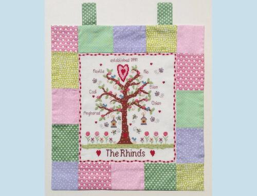 Customisable Cross Stitch Family Tree Kit by NiaCrossStitch