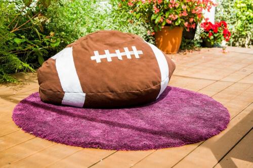 DIY Football Bean Bag Chair Pattern from Hallmark Channel