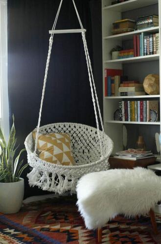 DIY Hanging Macramé Chair by Classy Clutter