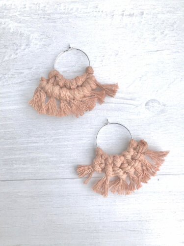 DIY Macrame Earring Kit from InHomePaintParties