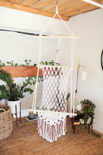 DIY Macrame Hanging Chair Pattern by The Sorry Girls