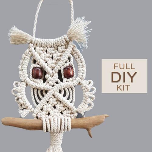 DIY Macrame Owl Kit by Macrame School