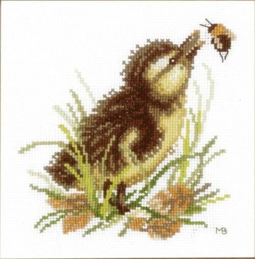 Duckling & Bumblebee by Lanarte Cross Stitch Kit by pepperdogcrossstitch