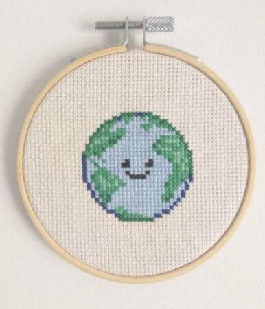 Earth Easy Childrens Cross Stitch by EasyPeasyDIY