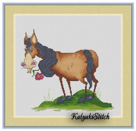 Easy Horse Cross Stitch Pattern by KalyakiStitch