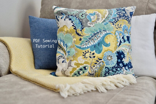 Envelope Pillow Cover Pattern by SewingShedDesigns