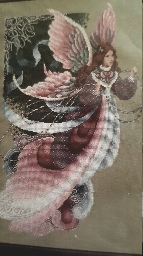 Fairy Dreams Lavender and Lace Cross Stitch Chart from TWkitsNcharts