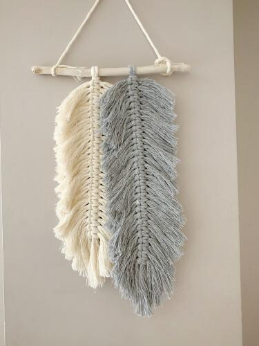 Feather Macrame DIY Kit from MoonGazingStudioArt
