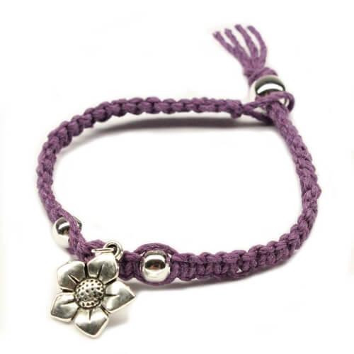 Flower Charm Friendship Bracelet Making Kit from DIYBracelets