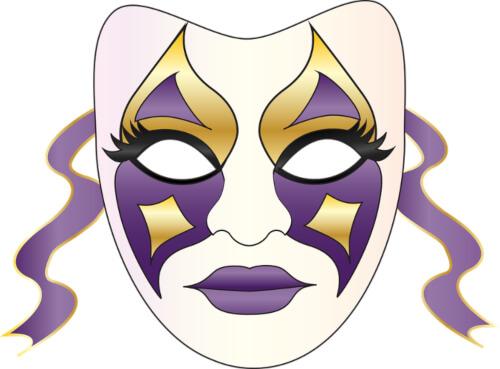 Graphic Mardi Gras Mask Clip Art