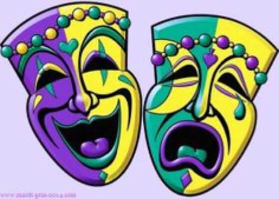 Greek Theater Mardi Gras Mask Clip Art