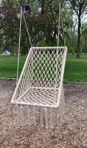 Hanging Macramé Chair by Macy McCall