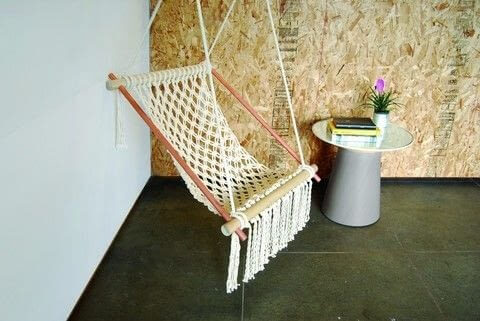 Hanging Macrame Chair from Cut Our & Keep