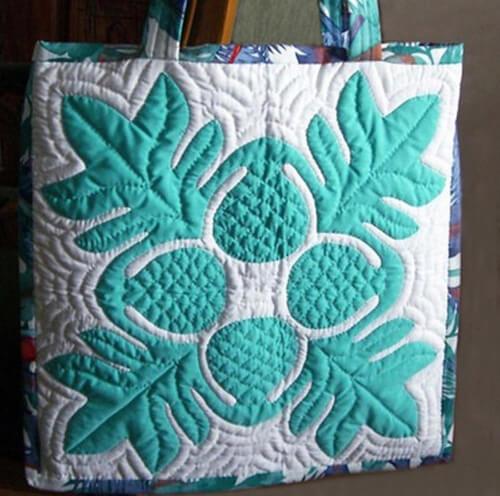 Hawaiian Quilt Block Breadfruit Pillow Cover Pattern by sferradesigns