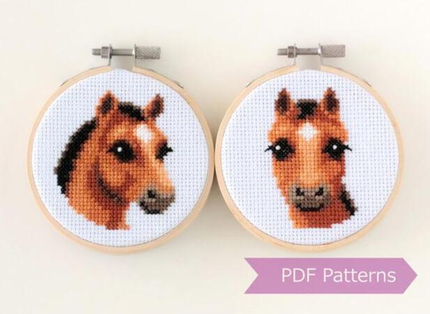 Horse Cross Stitch Pattern by LaSelvaDesign