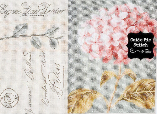 Hydrangea Lanarte Counted Cross Stitch Kit from CutiePieStitchNSew