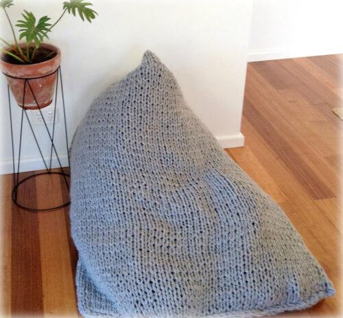 Knitted Bean bag Pattern by NoandEl