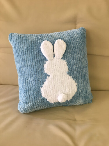Knitting Bunny Cushion Pillow Cover Pattern by MrKaplanCrafts