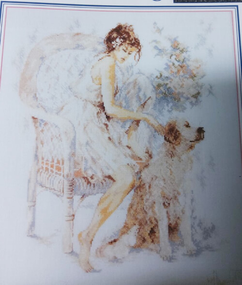 Lanarte Seated Girl With Dog By Stoney Creek
