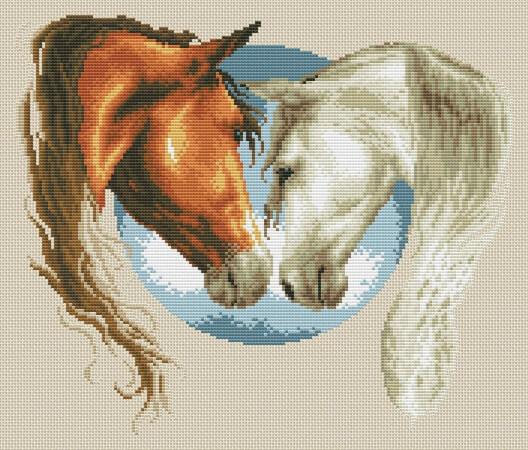 Love Horses Cross Stitch Pattern by CrossStitchKitsAlla