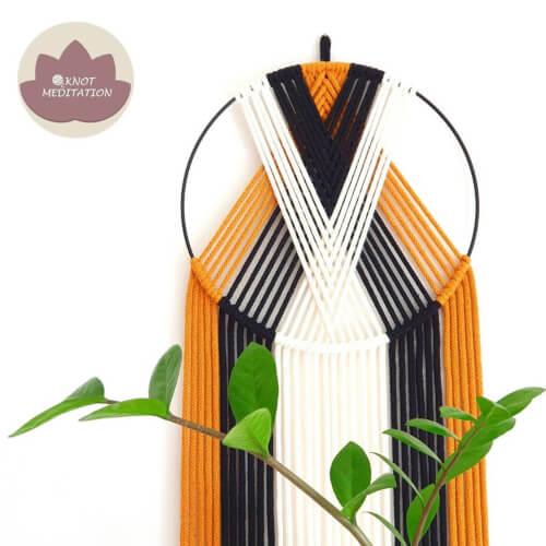 Macrame Dreamcatcher Kit Single Hoop Design from KnotMeditation