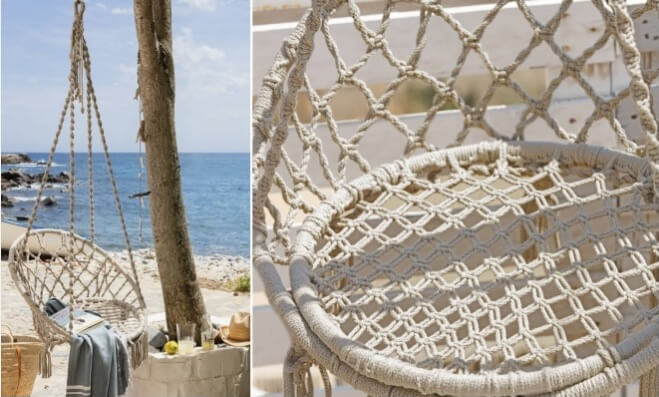 Macrame Hanging Chair Pattern from DIY Enthusiasts