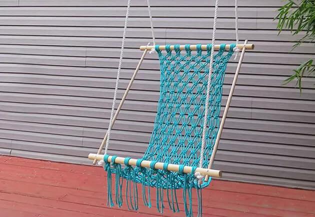 Macrame Hanging Hammock Chair by Angie Diersman