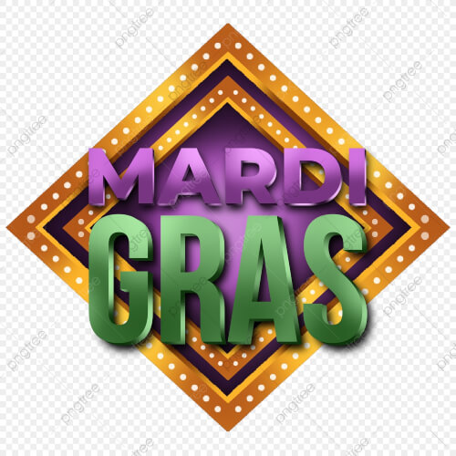 Mardi Gras Retro Label Element