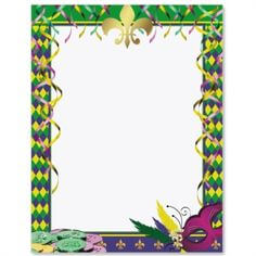 Mardi Gras Themed Frame