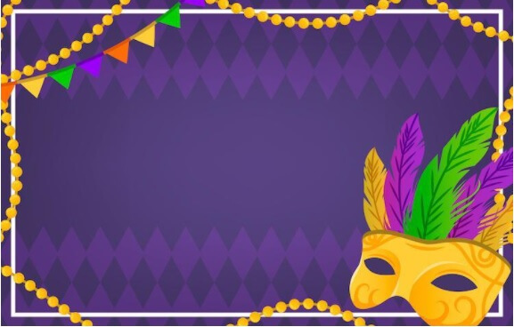 Mask and Bead Themed Background