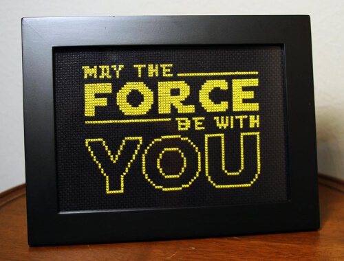 May The Force Be With You Star Wars Stitch Pattern by bombastitch