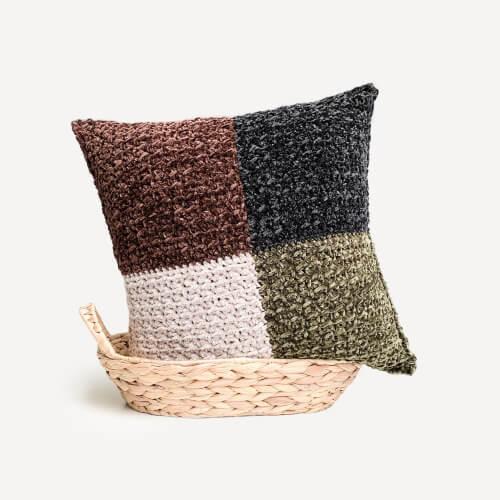 Modern Throw Crochet Pillowcase Pattern by TexturedAndCozy