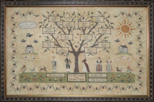 My Family Cross Stitch Pattern by WillowHillSamplings
