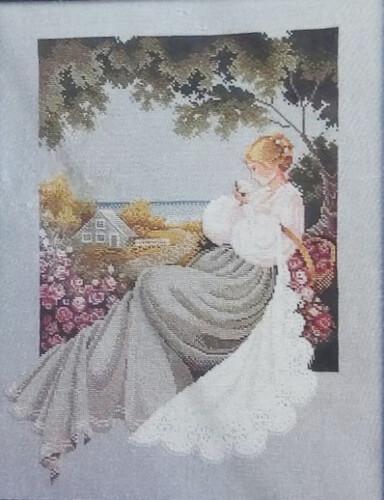 Nantucket Rose Lace Lavender and Lace Cross Stitch Pattern by Marilyn Leavitt-Imblum
