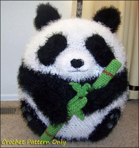 Panda Ottoman Pouf Bean Bag Chair Pattern by YarnovationsShop