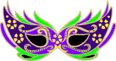 Purple Masquerade Mardi Gras Mask Clip Art