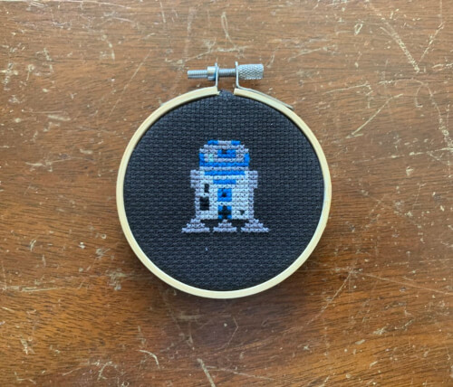 R2 - D2 Cross Stitch Star Wars Pattern by ofcraftsandcreations