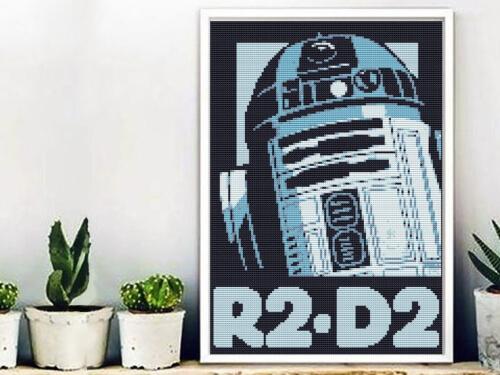 R2D2 Star Wars Cross Stitch Poster by CrossStitchAnywhere
