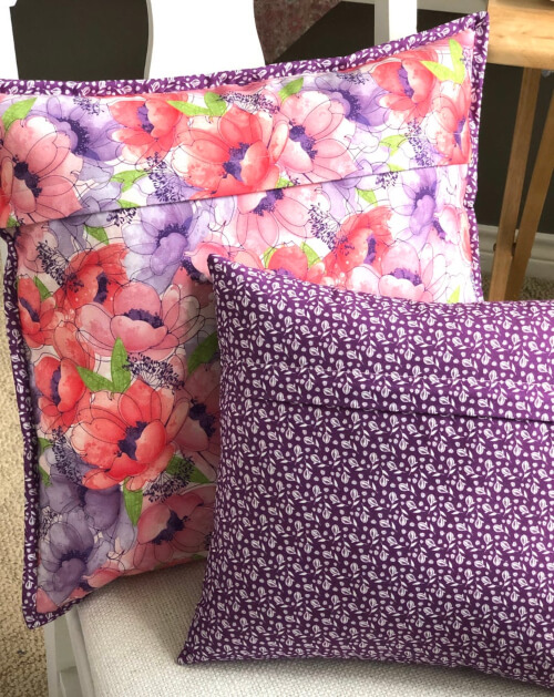 Simple Zippered Pillowcase Sewing Pattern by BodoboBags