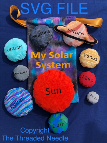 Solar System Bean Bag Pattern by FrodoBobbins